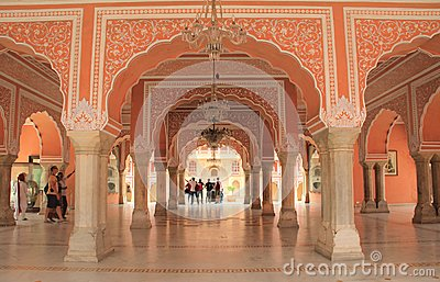 Chandra Mahal (City Palace). Editorial Stock Photo