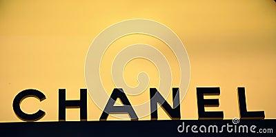Chanel fashion logo  Editorial Stock Photo