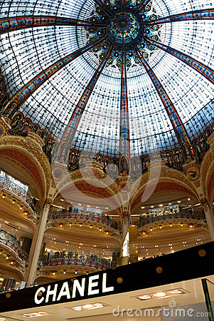 Chanel in Galerie Lafayette Editorial Stock Photo