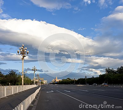 Chang'an Avenue , Beijing, China Royalty Free Stock Photo - Image: 19754935