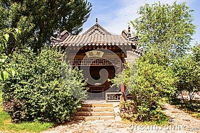 Chang s Manor Park scene-Tea house of Manor`s garden