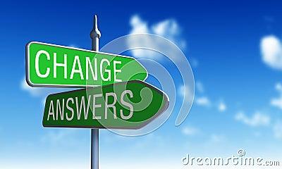 Change answers