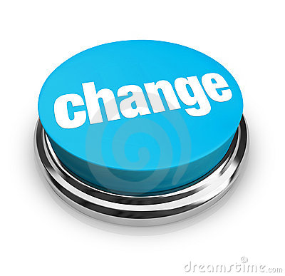 Free Change - Blue Button Royalty Free Stock Images - 9091039