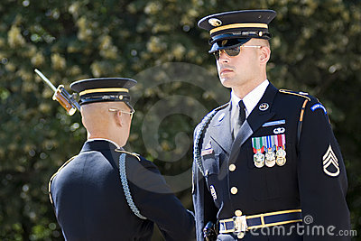 Change of the Guard in Arlington Cemetery Editorial Image