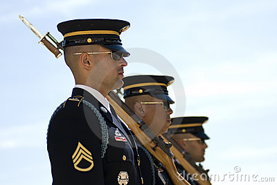 Change of the Guard in Arlington Cemetery Editorial Photo