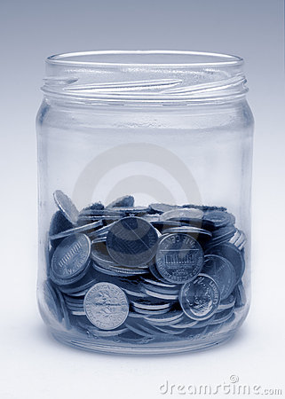 Change jar in monochrome blue