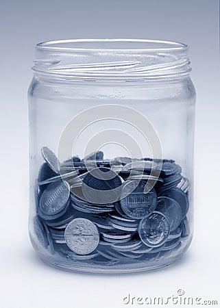 Change jar in monochrome blue