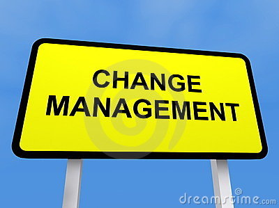 Change management sign