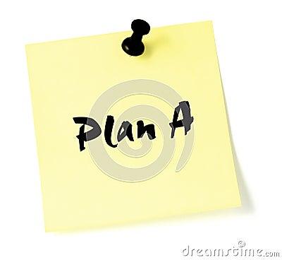 Change Plan A Note