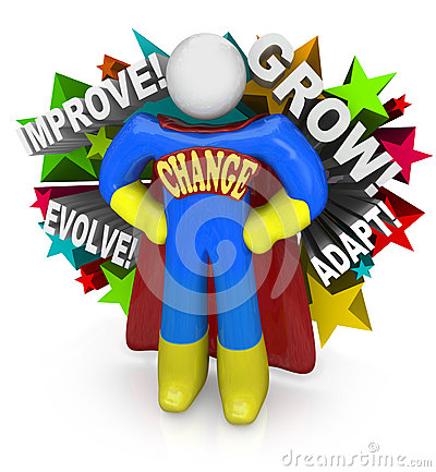 Free Change Superhero Helps You Adapt And Succeed In Life Stock Photography - 31864622