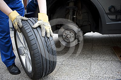Change of tyres