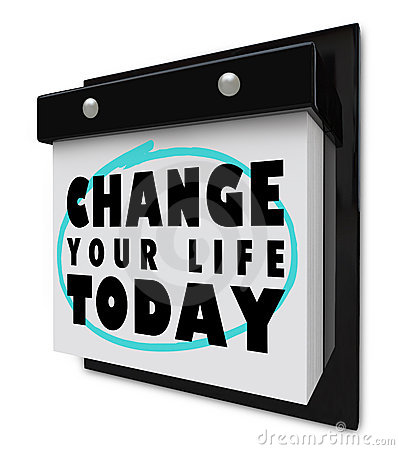 Free Change Your Life Today - Wall Calendar Royalty Free Stock Images - 18503939