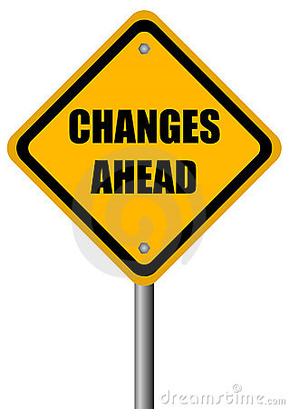 Changes Ahead Sign Royalty Free Stock Photo Image 18972655
