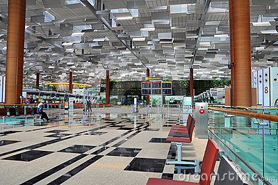 Changi Airport Singapore Editorial Stock Photo