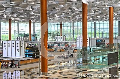 Changi Airport Singapore Editorial Stock Image