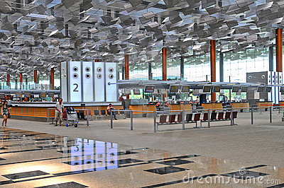 Changi Airport Singapore Editorial Image
