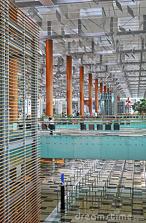 Changi Airport Singapore Editorial Image