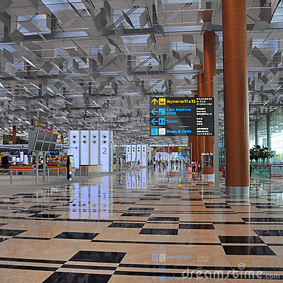 Changi Airport Singapore Editorial Photography