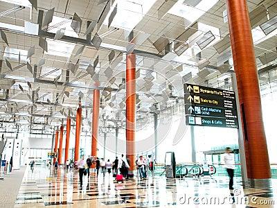 Changi singapore för 3 flygplats terminal