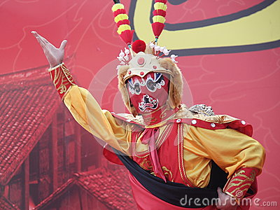 Changing faces of Sichuan Opera Editorial Stock Photo