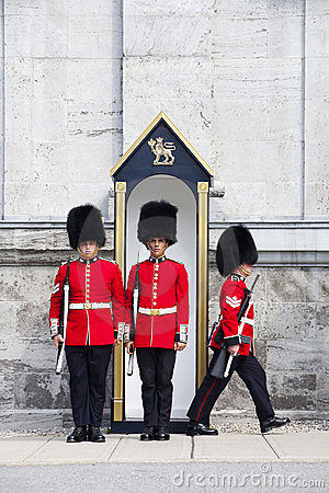 Changing of Foot Guards at Governor General House Editorial Stock Photo