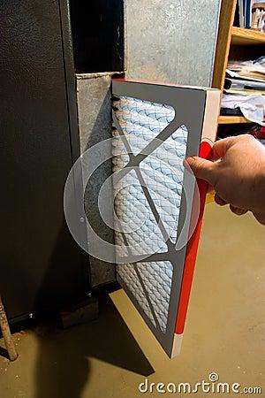 Free Changing Furnace Filter Stock Photo - 16122710