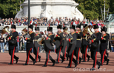 Changing of the guard at Buckingham Palace Editorial Stock Image
