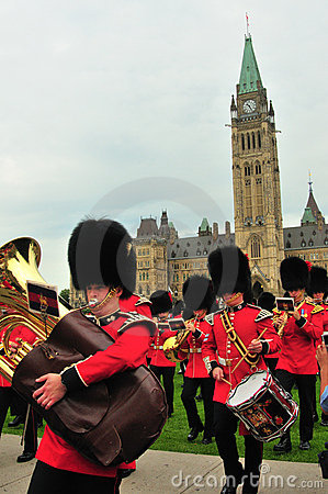 Changing of Guard - Canada Parliament Editorial Photography