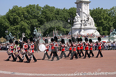 Changing the Guard. London Editorial Image