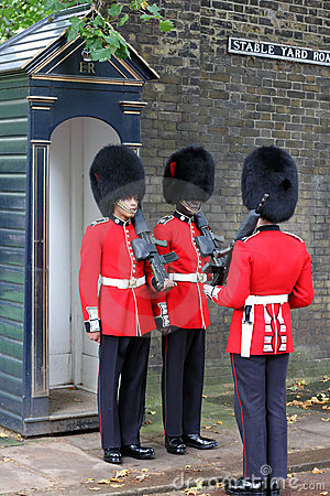 Changing of the Guard in London England Editorial Stock Image