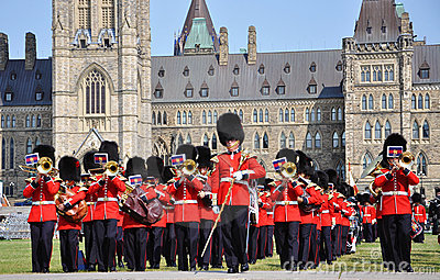 Changing of Guard in Parliament Hill, Ottawa Editorial Stock Photo