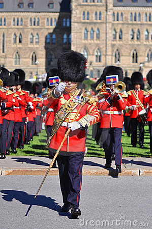 Changing of Guard in Parliament Hill, Ottawa Editorial Photography