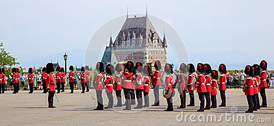 Changing of the Guard, Quebec City Editorial Photography