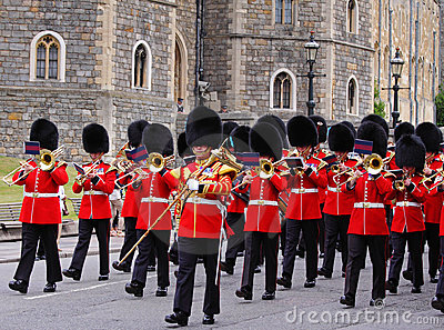 Changing of the Guard at Windsor Castle, England Editorial Photography