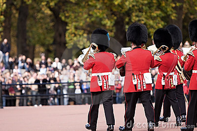 Changing guards ceremony, London Editorial Stock Photo