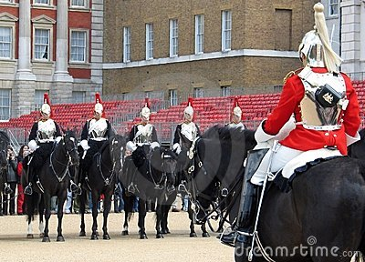 Changing of the Horse Guard in London, England Editorial Photography