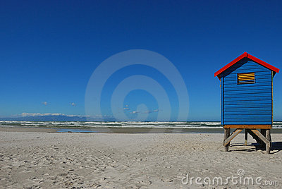 Changing hut at Muizenberg Beach (South Africa)