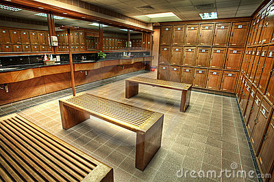 Changing or locker room in a country club