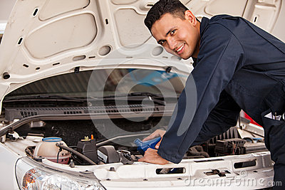 Changing oil of a car