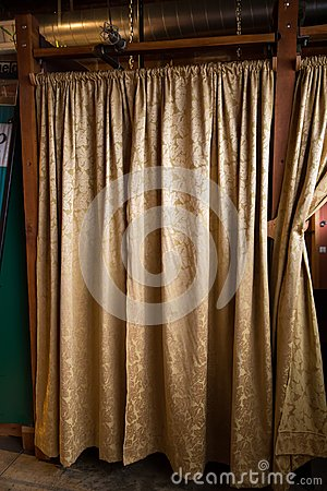 Free Changing Room Curtains At Studio Stock Photos - 113883933