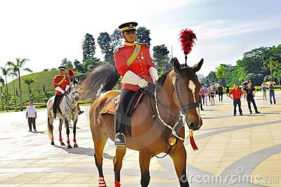 Changing of royal guard  at national palace Editorial Stock Photo