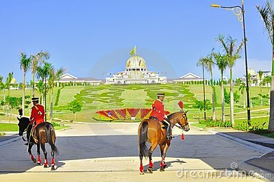 Changing of royal guard  at national palace Editorial Stock Photo