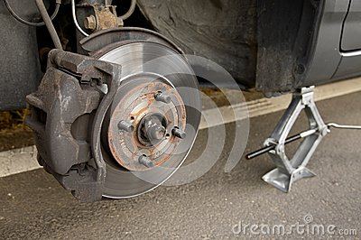 Changing wheel
