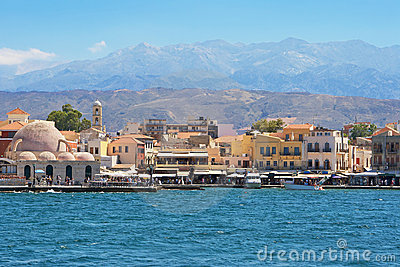 Chania harbour. Crete