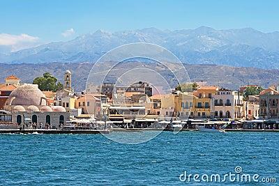 Chania harbour. Crete