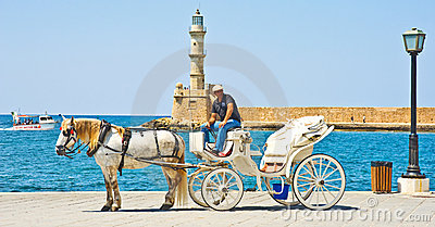 Chania, a major tourist destination. Editorial Image