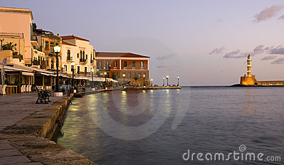 Chania town in Crete, Greece
