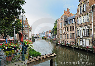Channel in center of Ghent