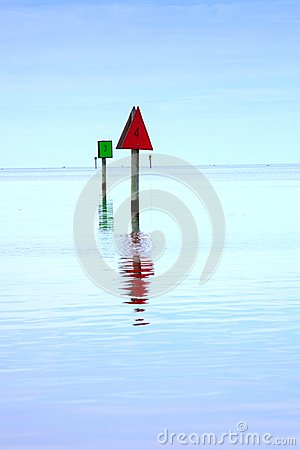 Channel Markers Hatteras Inlet North Carolina