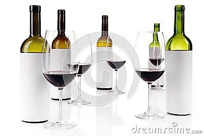Échantillon de vin aveugle sur le blanc